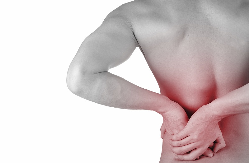 Man getting physiotherapy treatments for back pain in Caboolture