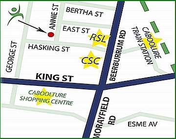 Click on Map to Get Directions to Caboolture Physical Therapy Centre